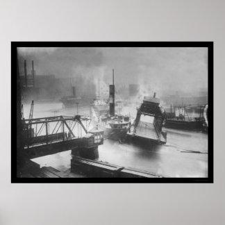 Inundación que destruye un puente en Cleveland 191 Posters