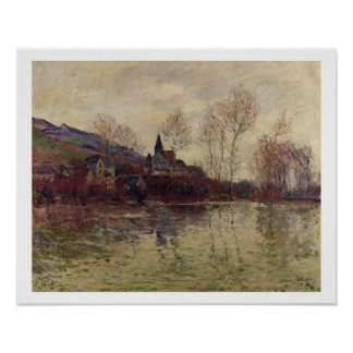 Inundaciones de Claude Monet el | en Giverny Póster
