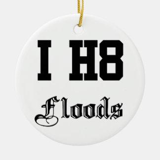 inundaciones ornamento de navidad