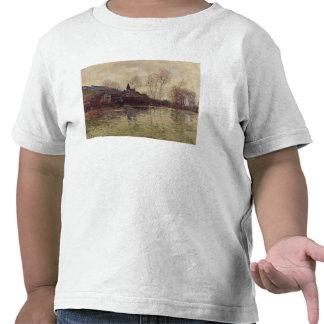 Inundaciones en Giverny 1886 aceite en lona Camiseta