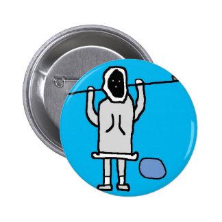 Inupiaq Man Chillin Pinback Buttons