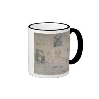 Inv. 1859 6-25-545. R.  Designs for tombs Ringer Coffee Mug