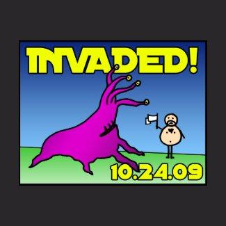 Invaded! alien attack shirt shirt
