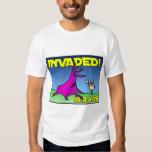 Invaded! alien attack shirt (White)