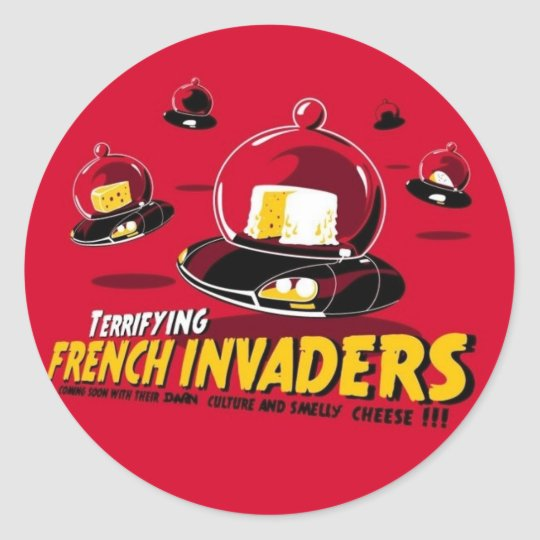 Invaders Classic Round Sticker