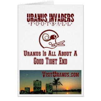 Invaders Football Card