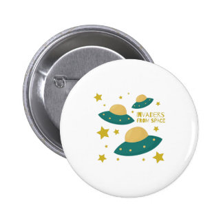 Invaders from Space 2 Inch Round Button