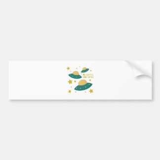 Invaders from Space Car Bumper Sticker