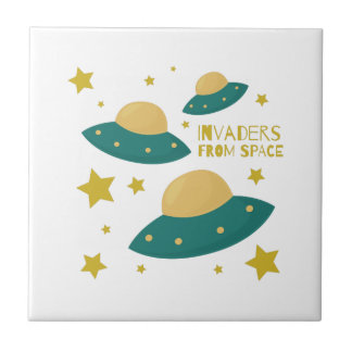 Invaders from Space Ceramic Tiles
