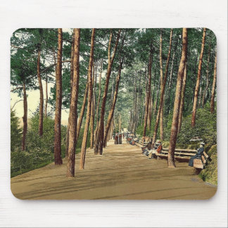 Invalids' walk, Bournemouth, England vintage Photo Mousepad