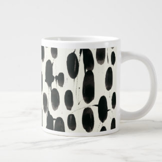 Invariable I   Black Watercolor Giant Coffee Mug