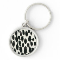 Invariable I | Black Watercolor Keychain