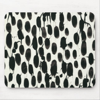 Invariable I | Black Watercolor Mouse Pad