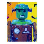 invasión 1-1 del robot tarjeta postal
