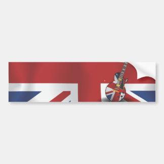 Invasión británica pegatina de parachoque