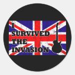 Invasión británica etiquetas redondas