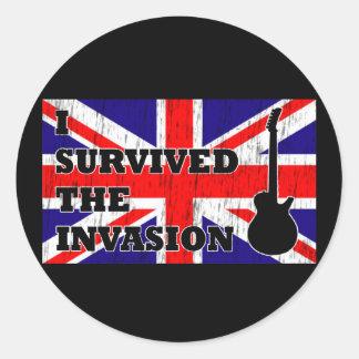 Invasión británica pegatina redonda