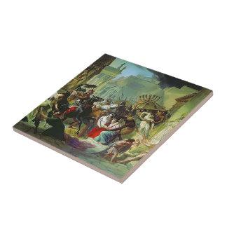 Invasión de Karl Bryullov- Genserich de Roma Teja Cerámica
