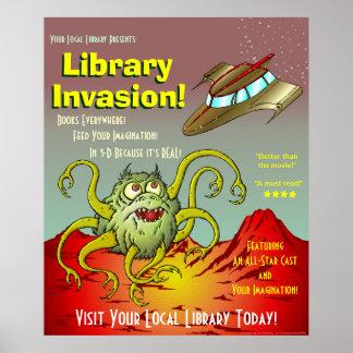 ¡Invasión de la biblioteca! Poster de la promoción