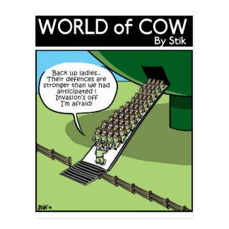 Invasión de la leche Squirters Tarjetas Postales