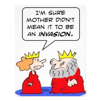 invasión de la reina madre del rey tarjetas publicitarias