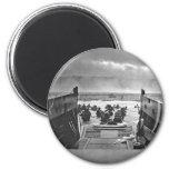 Invasión de Normandía en el día D - 1944 Imanes