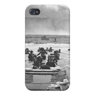 Invasión de Normandía en el día D - 1944 iPhone 4/4S Funda