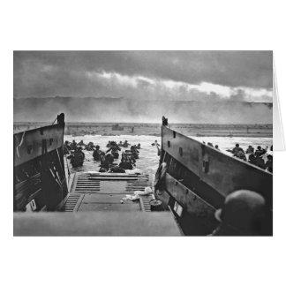 Invasión de Normandía en el día D - 1944 Tarjeta Pequeña