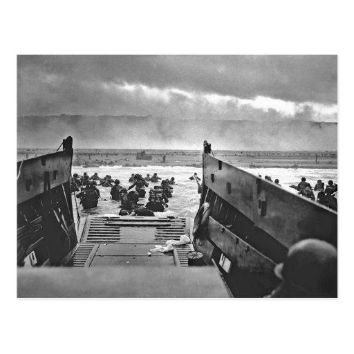 Invasión de Normandía en el día D - 1944 Postal