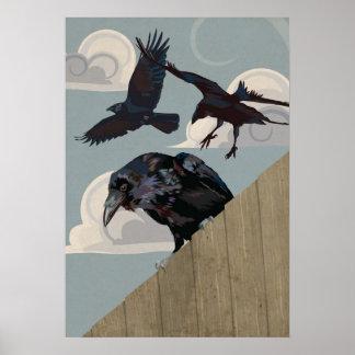 Invasión del cuervo poster