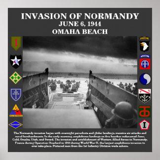 Invasión del día D del poster de Normandía