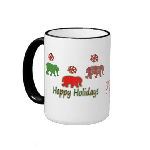 Invasión del día de fiesta del elefante taza de café