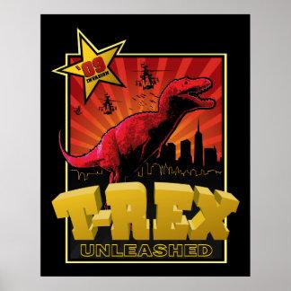 Invasión del dinosaurio de Rex del Tyrannosaurus Poster
