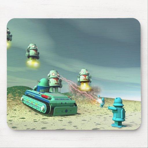 Invasión del robot desde arriba de Mousepad Tapetes De Raton