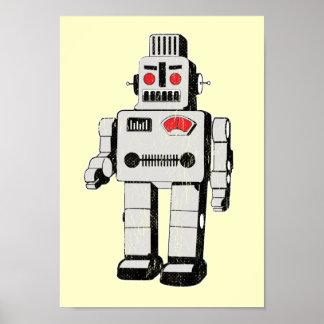 invasión del robot póster