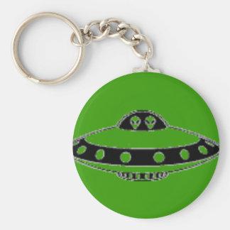 ¡INVASIÓN DEL UFO! LLAVERO REDONDO TIPO PIN