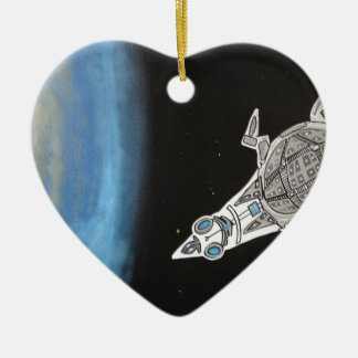 Invasion fleet 2 ceramic ornament