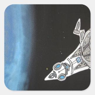 Invasion fleet 2 square sticker