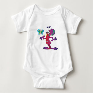 Invasión linda del extranjero del dibujo animado body para bebé