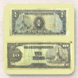 Invasion Money ~ Cork Coaster