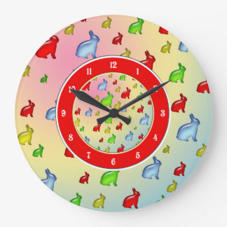 Invasion of the Jelly Bunnies Wall Clocks