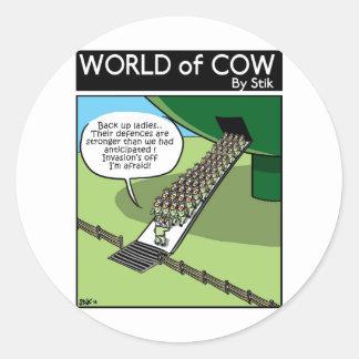 Invasion of the Milk Squirters Classic Round Sticker