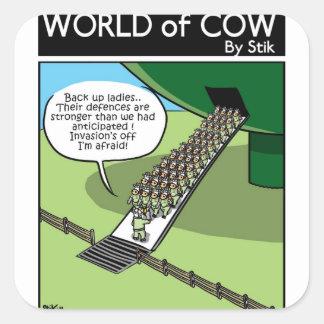 Invasion of the Milk Squirters Square Sticker