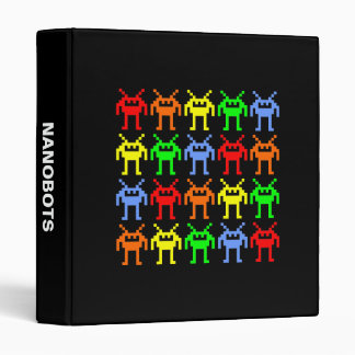 Invasion of the Multi-color Nanobots 3 Ring Binder