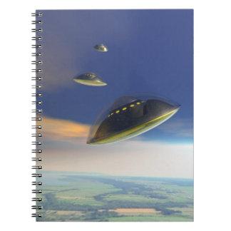 Invasión silenciosa spiral notebook