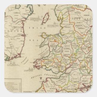 Invasiones Inglaterra, Irlanda Pegatina Cuadrada