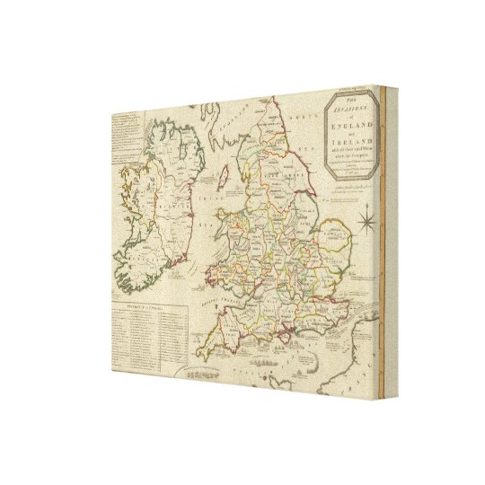 Invasions England, Ireland Canvas Print