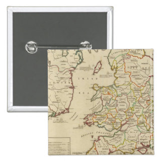 Invasions England, Ireland Pinback Button