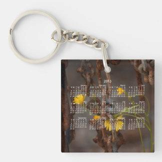 Invasive Flower; 2013 Calendar Keychain