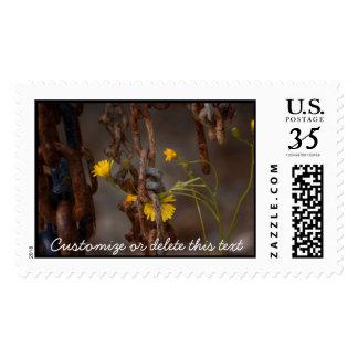 Invasive Flower; Customizable Greetings Postage